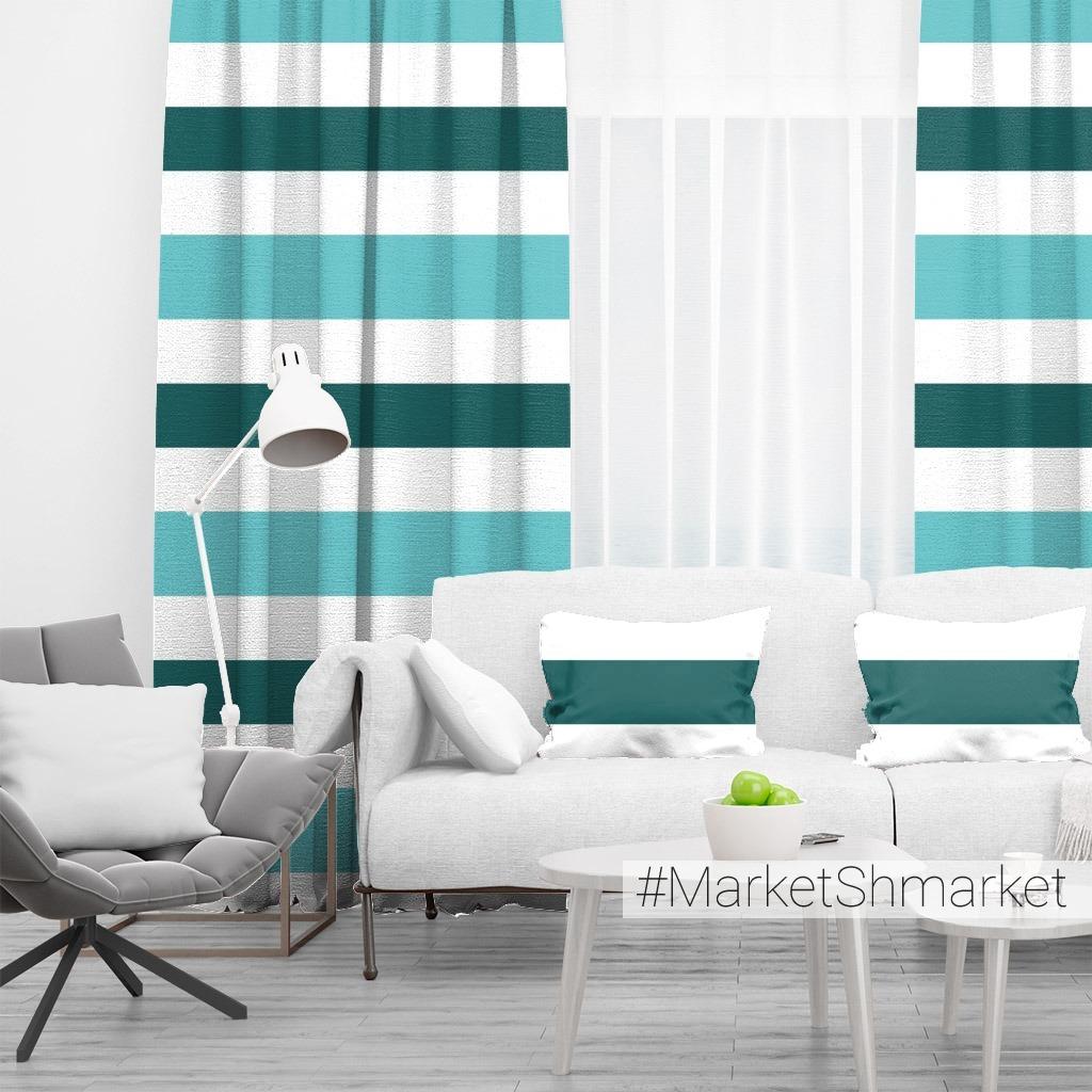 Бирюзовые и белые горизонтальные полоски. Море, лето. Turquoise and white stripes. Sea and summer theme
