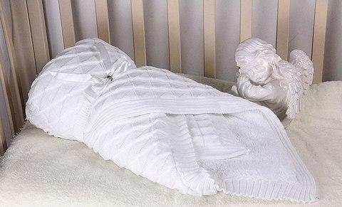 Зимний конверт-одеяло Вязка белый