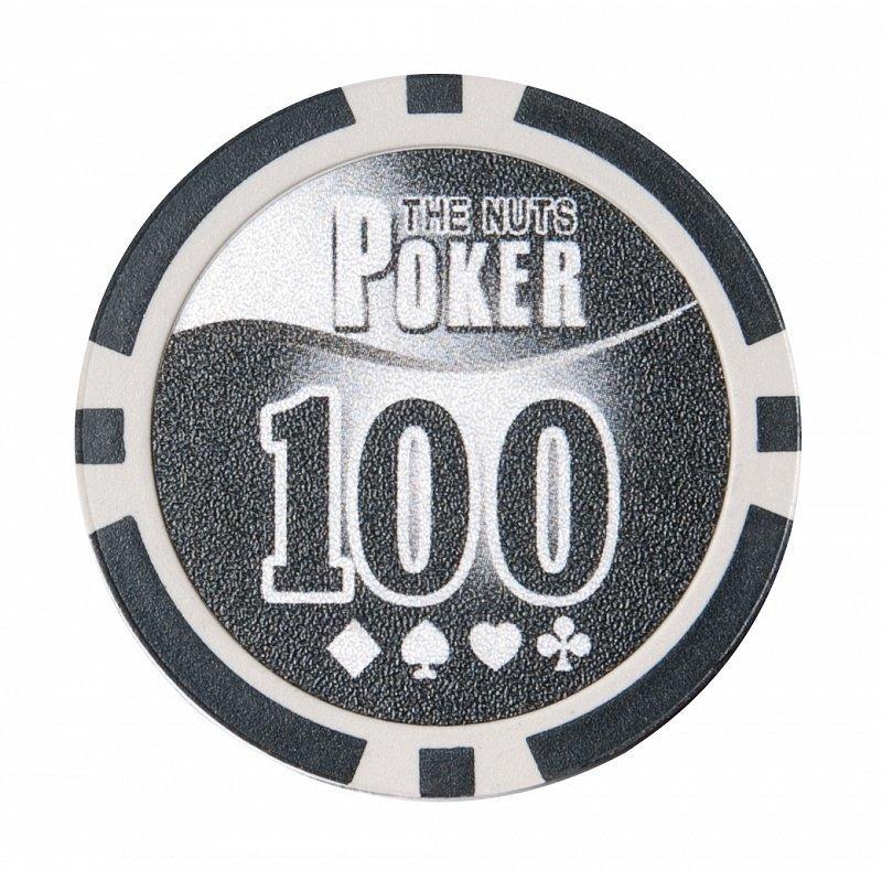Покерный набор NUTS на 200 фишек - фишка номиналом 100