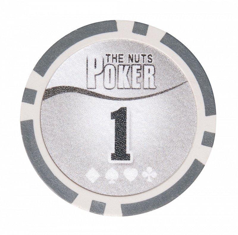 Покерный набор NUTS на 200 фишек - фишка номиналом 1