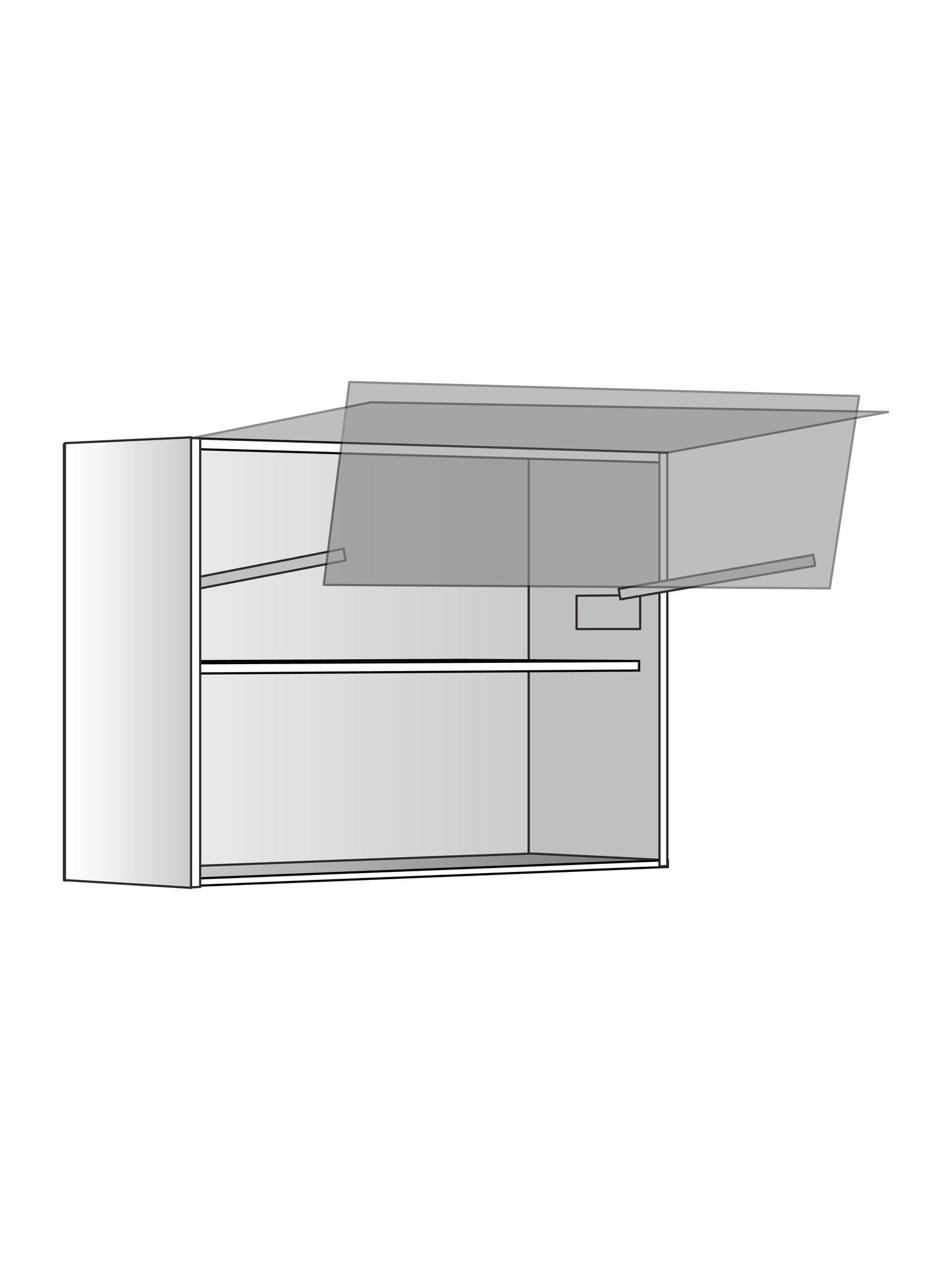 Верхний шкаф c полкой и подъемником, 600х800 мм