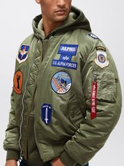 Бомбер Alpha Industries MA-1 Squadron (Зеленый)