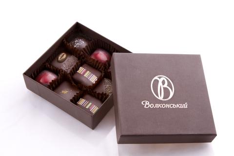 Набір шоколадних цукерок 9 шт.