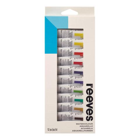Набор акварельных красок Reeves в тубах 10 мл*12 цв, в картонной упаковке