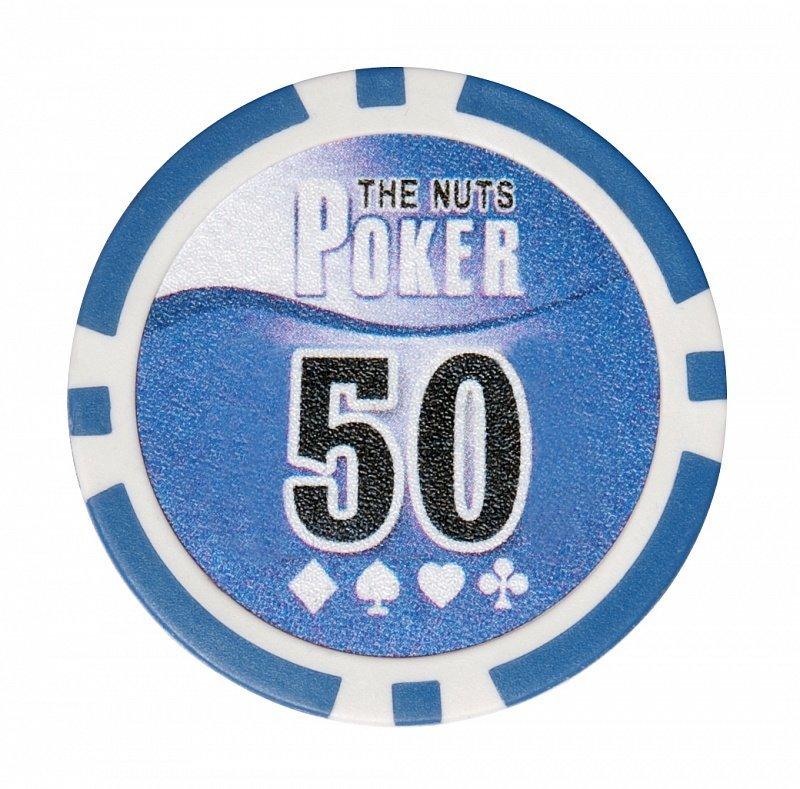 Покерный набор NUTS на 200 фишек - фишка номиналом 50