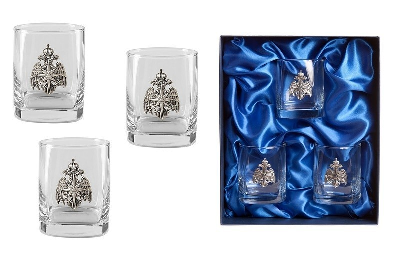 Подарочный набор стаканов для виски «Стандарт МЧС» набор стаканов для виски 6 шт bohemia набор стаканов для виски 6 шт