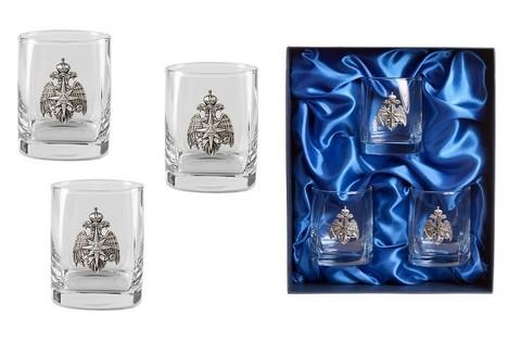 Подарочный набор стаканов для виски «Стандарт МЧС», 3шт