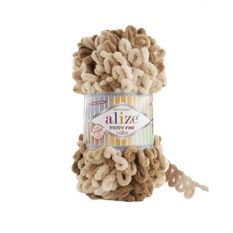 Купить Пряжа Ализе Пуффи Файн Колор Код цвета 6066   Интернет-магазин пряжи «Пряха»