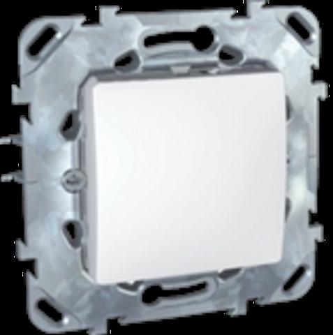 Выключатель одноклавишный промежуточный - Перекрестный переключатель одноклавишный. Цвет Белый. Schneider electric Unica. MGU5.205.18ZD