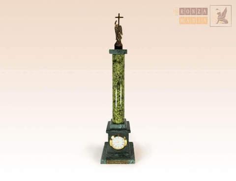 часы Александрийский столп большие - змеевик