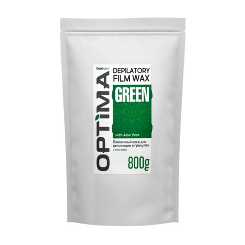 Пленочный горячий воск Optima GREEN  Depiltouch 800 г.