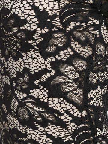 Кружевное платье миди, черное 3