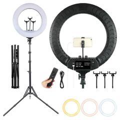 Кольцевая светодиодная лампа со штативом Soft Ring Light RL-18 (диаметр 45 cм) с пультом ДУ