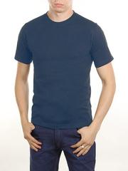 3366-12 футболка мужская, тем.синяя