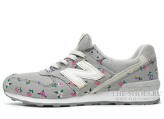 Кроссовки Женские New Balance 996 Grey Flower