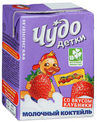 """Коктейль молочный """"Чудо детки"""" клубничный 3,2% 200 г"""