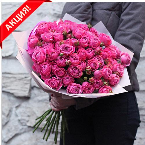 Купить букет 19 розовых кустовых пионовидных роз Мисти Баблс в Перми