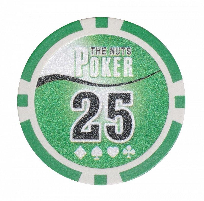 Покерный набор NUTS на 200 фишек - фишка номиналом 25