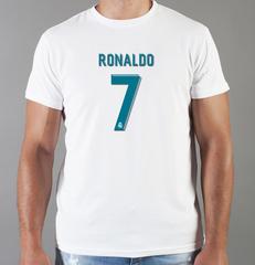 Футболка с принтом Криштиану Роналду (Cristiano Ronaldo) белая 0011