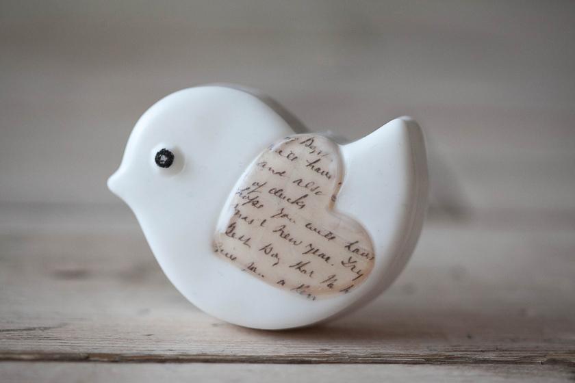 Форма для мыловарения Птичка-сердечко. Готовое мыло