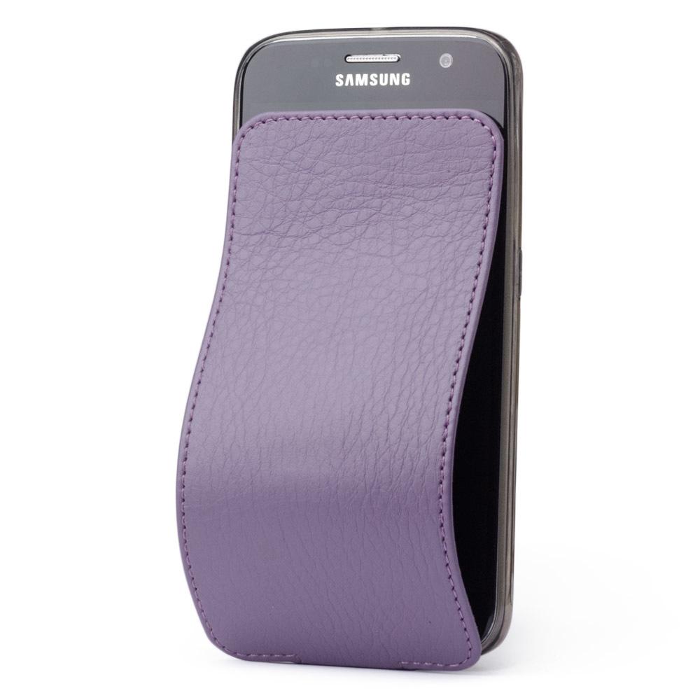 Чехол для Samsung Galaxy S6 из натуральной кожи теленка, фиолетового цвета