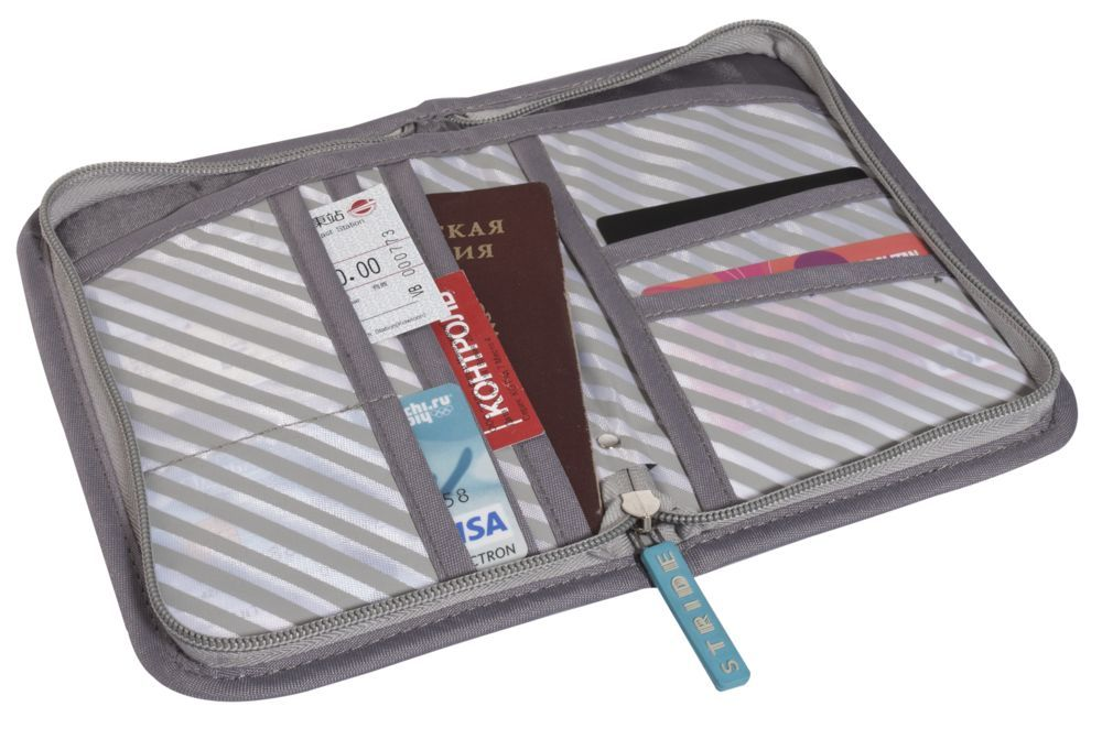 Prestwick RFID Travel Organiser, grey