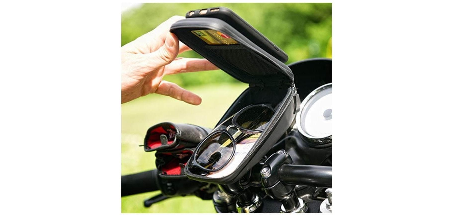 Кейс для велосипеда с держателем для смартфона SP Wedge Case Set внутреннее пространство
