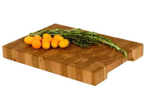 деревянная торцевая разделочная доска из карагача (вяза) 35х25х4 см