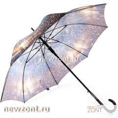 Зонт-трость полуавтоматический Lamberti дождливый Лондон