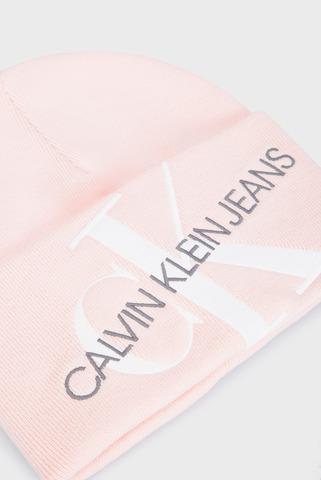 Женская пудровая шапка CKJ BEANIE 45 Calvin Klein