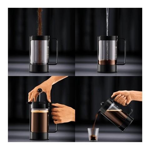 Френч-пресс Bodum Bean (1 литр), черный