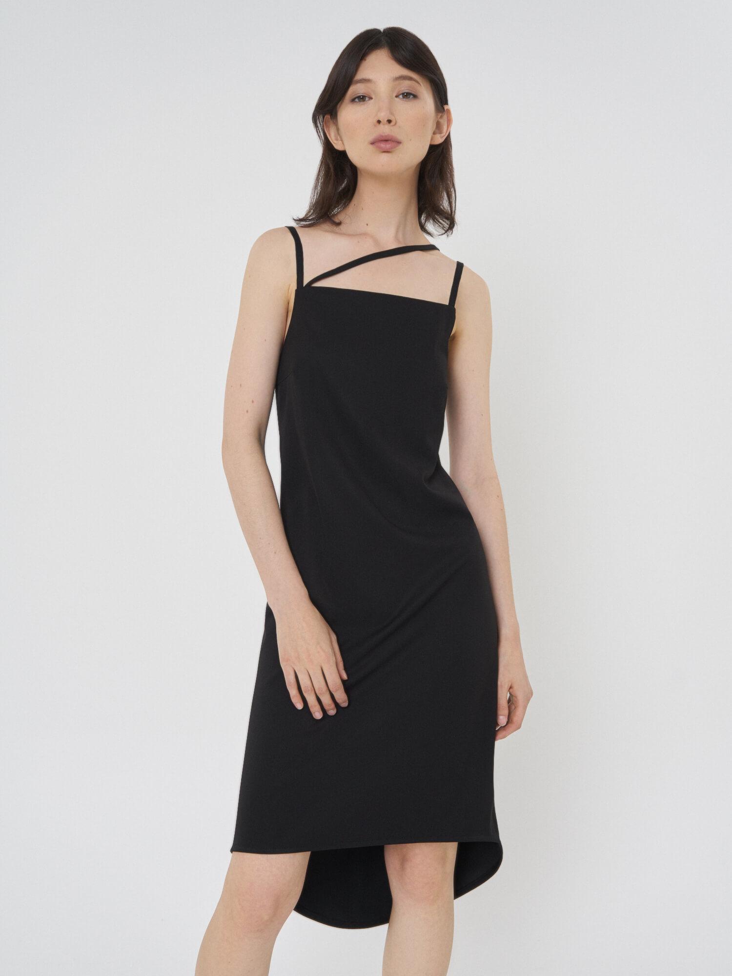 Платье Violet с асимметричной бретелью фото