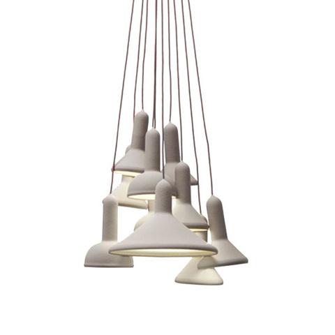 Подвесной светильник копия TORCH by Sylvain Willenz (белый, 10 плафонов)