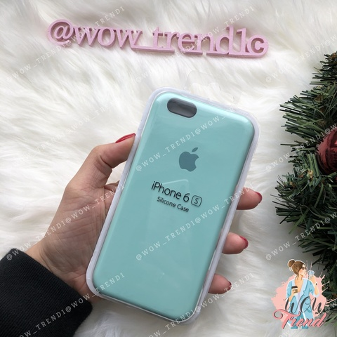 Чехол iPhone 6+/6s+ Silicone Case /marine green/ нежно-мятный 1:1