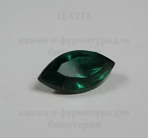 Ювелирные стразы Preciosa Emerald (10х5 мм) ()