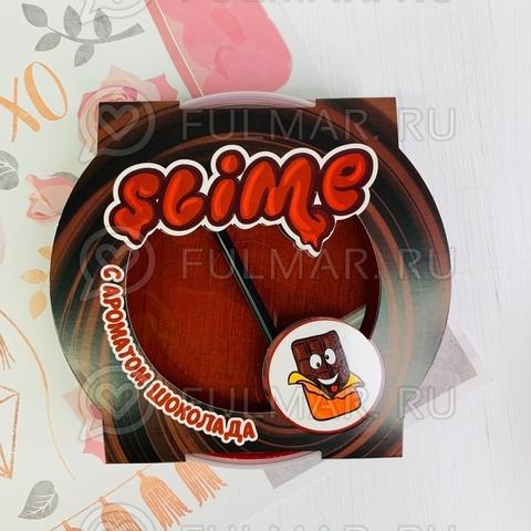 Слайм-лизун большой надувающийся с трубочкой Slime Mega с ароматом шоколада
