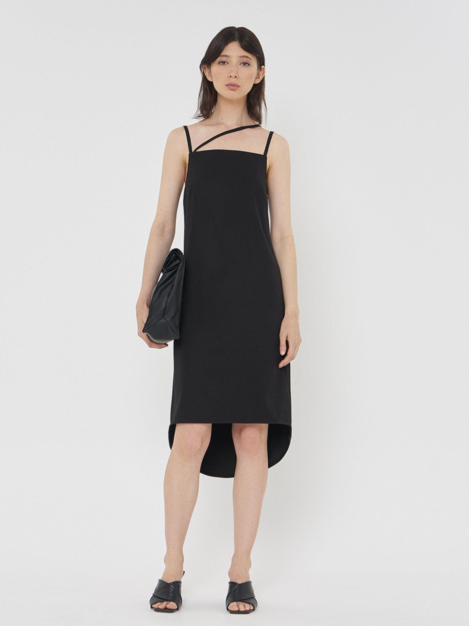 Платье Violet с асимметричной бретелью