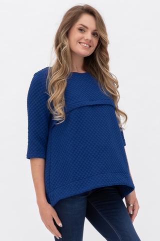 Джемпер для беременных и кормящих 10804 синий