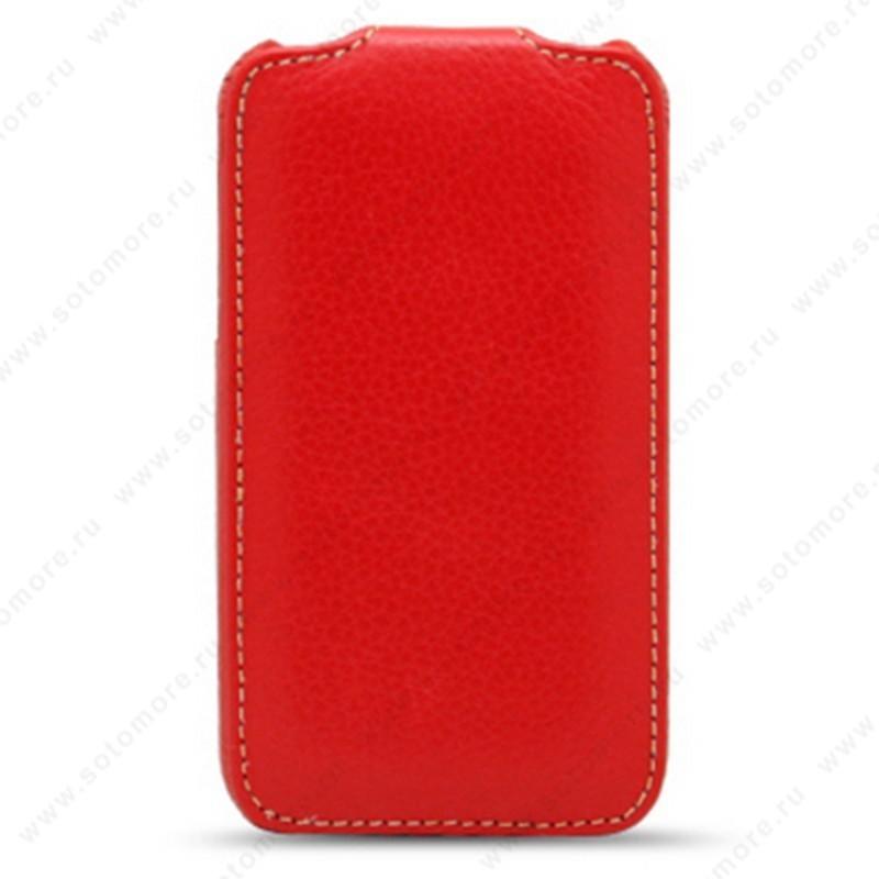 Чехол-флип Melkco для Samsung Wave II S8530 Leather Case Jacka Type (Red LC)