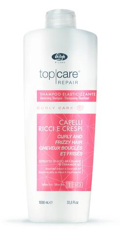 Разглаживающий шампунь для вьющихся волос - Lisap Elasticising Shampoo Curly and Frizzy Hair 1000 мл