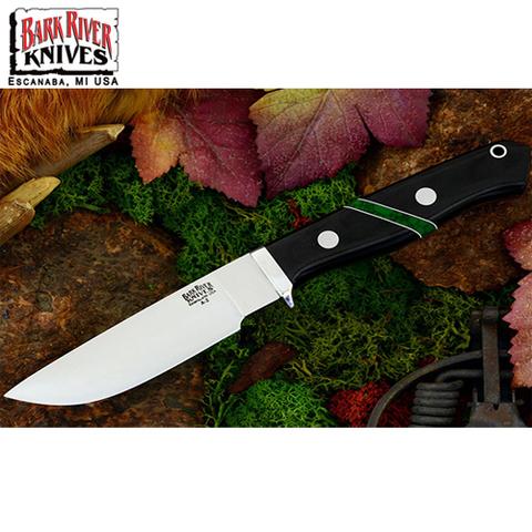 Нож Bark River модель Gameskeeper Black Linen Micarta Jade Malac
