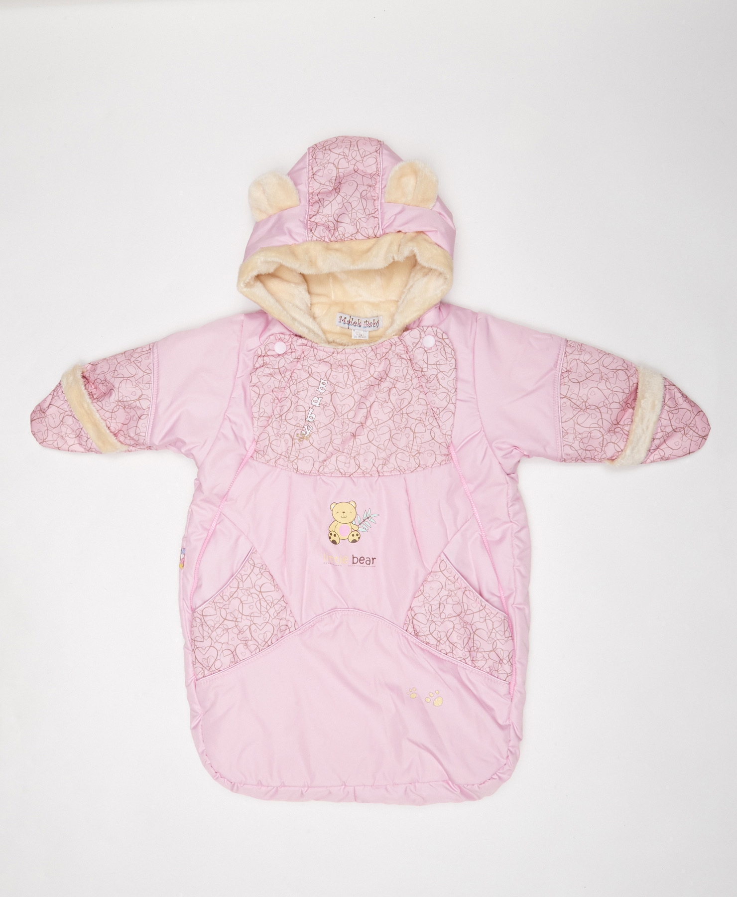 Конверты на выписку Конверт для новорожденного, Осень-Весна, Розовый 2422-29-490265.jpg