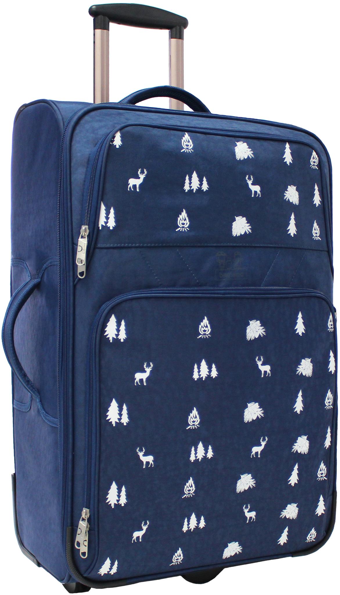Дорожные чемоданы Чемодан Bagland Леон большой 70 л. 225 синій/олені (003767027) IMG_5356.JPG