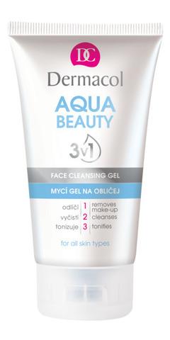 Dermacol Aqua Beauty Очищающий гель для умывания с экстрактом огурца и морскими водорослями 3в1, 150мл
