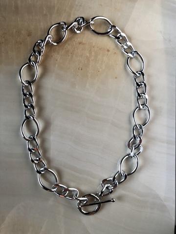 Колье Галия, серебряный цвет