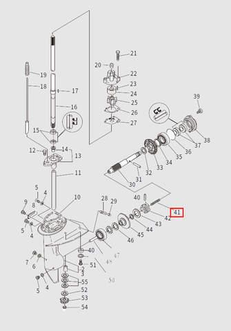Пружина вала включения сцепления для лодочного мотора T9.8 Sea-PRO (13-41)
