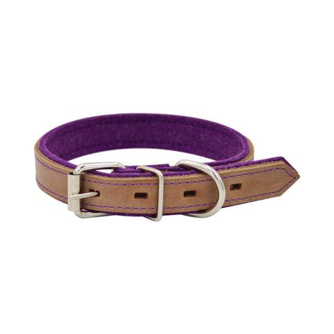Зооэкспресс ошейник SUOMI LINE бежевый/фиолетовый 15мм 25-32см