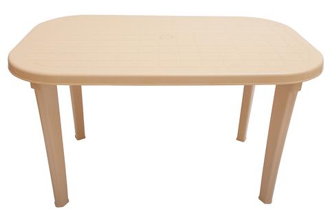 Пластиковый стол овальный бежевый