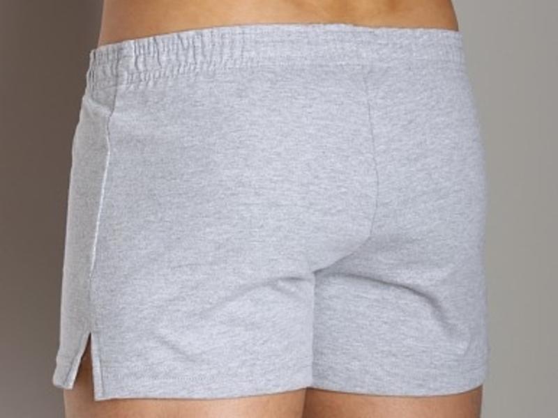 Мужские шорты  спортивные серые Andrew Christian PhysEd Varsity Shorts  4568