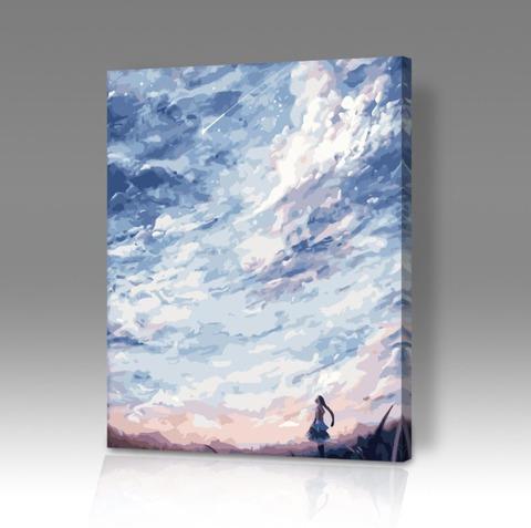 Картина по номерам на холсте Beautiful skies anime, 40см*50см